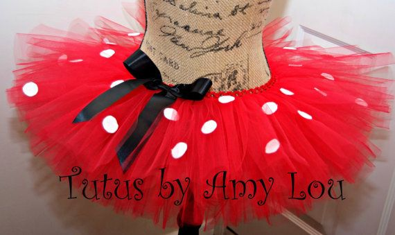 Red with White or Black Polka Dots Minnie Mouse Ladybug Costume Princess Tutu; Adult Women on Etsy, $37.00