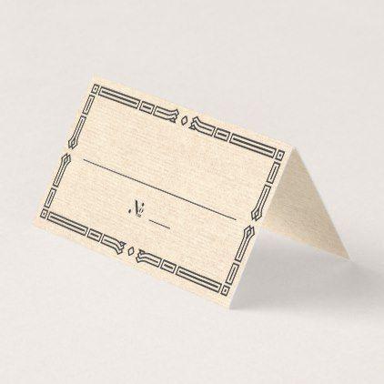 Elegant Art Deco Escort Card - vintage wedding gifts ideas personalize diy unique style