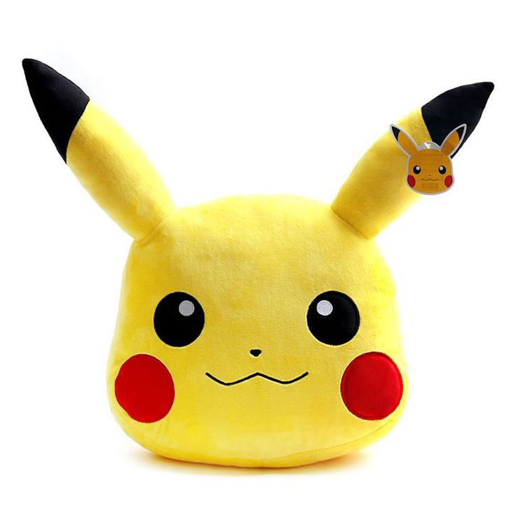 Pokemon XY Character Pikachu Face Pillow Cushion 40cm 50cm 2Type Made in korea #Pokemon