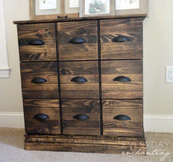 Upcycled IKEA Tarva Dresser into Pottery Barn Style Apothecary Cabinet!