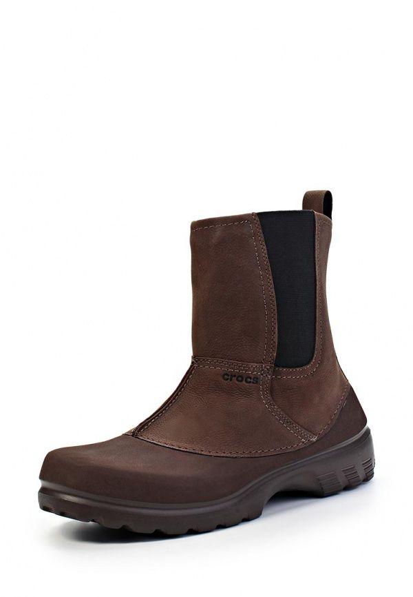 Ботинки Crocs / Крокс мужские. Цвет: коричневый. Материал: натуральная кожа. Сезон: Весна-лето 2014. С бесплатной доставкой и примеркой на Lamoda. http://j.mp/1kkvcHL