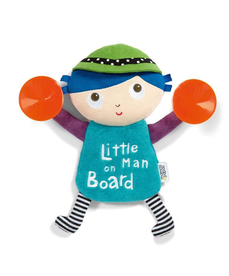 Babyplay - Little Man On Board Sign - Car Accessories - Mamas & Papas