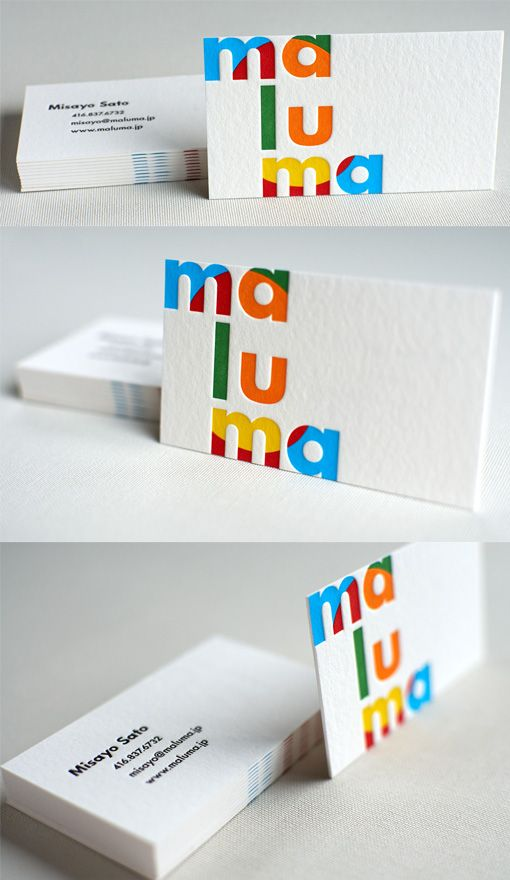 Bright Colour Scheme With Minimalist Design On A Business Card For A Graphic Designer