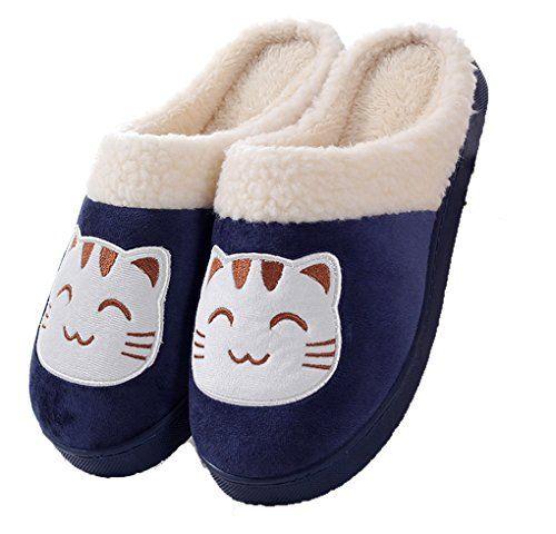 Zoe's Men's And Women's Cute Cotton Slippers Soft House S... http://www.amazon.com/dp/B016Y1MTXY/ref=cm_sw_r_pi_dp_D1msxb13T1M9W