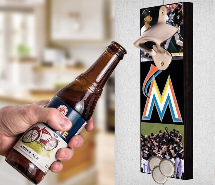 This Miami Marlins bottle opener can be a great gift to any sports fan. It's the perfect addition to any man cave, bar area, kitchen, or to just put out while watching the big game. It is also a great groomsmen gift. Miami Marlins Wall Mount Bottle Opener Miami Marlins Cap Catcher Miami Marlins Wall Opener Miami Marlins Beer Opener Miami Marlins Wall Art Miami Marlins Craft Miami Marlins Decor Miami Marlins Gift Miami Marlins Diy Miami Marlins Art