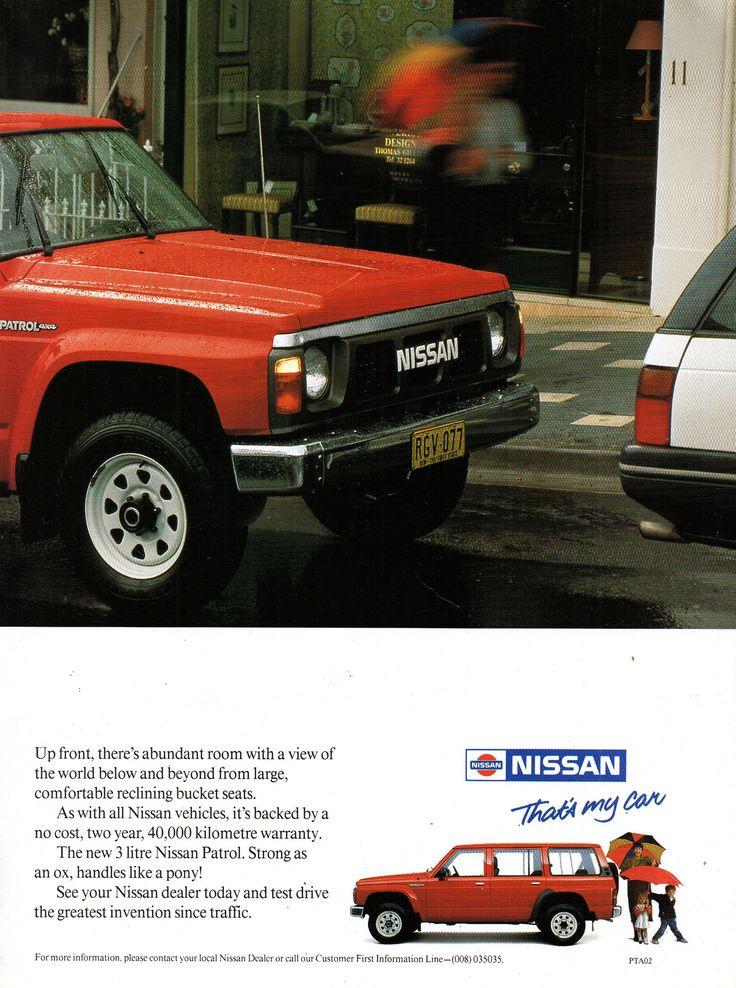 https://flic.kr/p/H21JEp | 1990 Nissan Patrol 3 Litre 4WD Wagon age 2 Aussie Original Magazine Advertisement