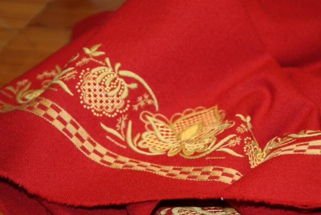 """Red """"Romerriksbunad"""" / Akershus, Norway #bunad #romeriksbunad"""