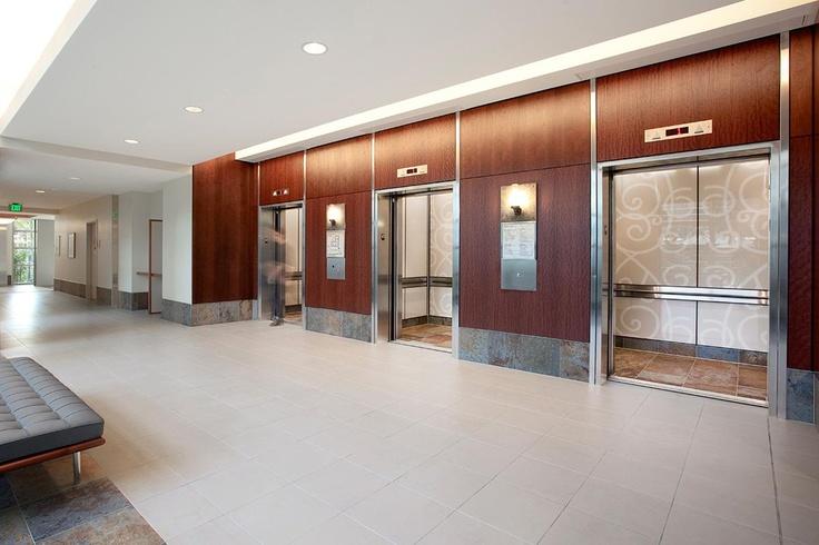 Levele105 elevator interior with main panels in