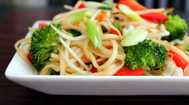 Asian Noodle & Veggie Salad w/Soy Vinaigrette/Poor Girl Eats Well - a lot of tasty dishes here.