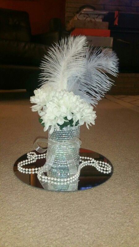 Table centerpieces for Roaring 20's Party