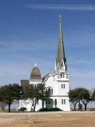 Recognized as the most photographed church in Texas, the New Sweden Evangelical Lutheran Church is a magnificent specimen of Texas Ecclesiastical Architecture. Located in New Sweden, Texas, it is 20 miles east of downtown Austin, Texas. c.