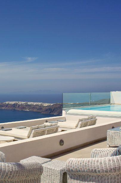 #Jetsetter Daily Moment of Zen: La Maltese Estate in Santorini, #Greece