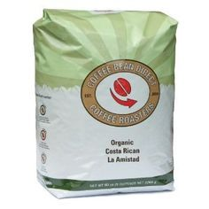 Organic Costa Rican, Whole Bean Coffee, 5 Pound Bag by Coffee Bean Direct at the Exotic Coffee Bean