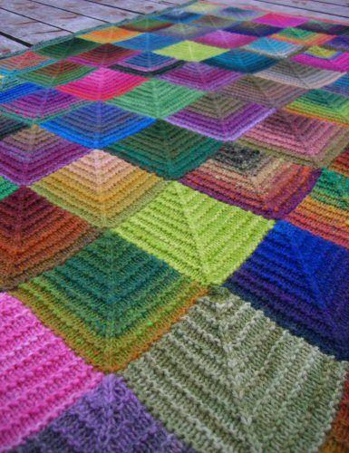 Domino Knitting Blanket Pattern : donimo t?ppe Domino strik Pinterest Afghans