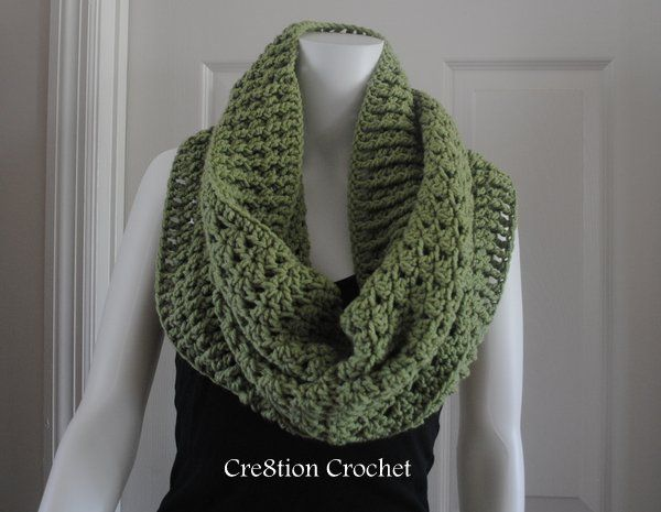 free pattern fall crochet stacked shell cowl pattern by Cre8tion Crochet