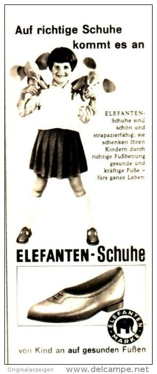 Original-Werbung/ Anzeige 1959 - ELEFANTEN SCHUHE - ca. 60 x 140 mm