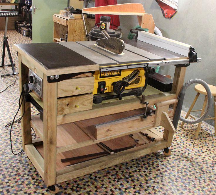 Les 25 meilleures id es de la cat gorie table de sciage - Fabriquer table scie circulaire ...