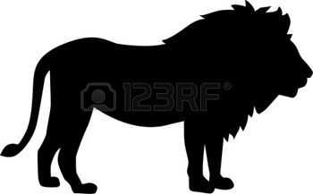 animales: Lion silueta