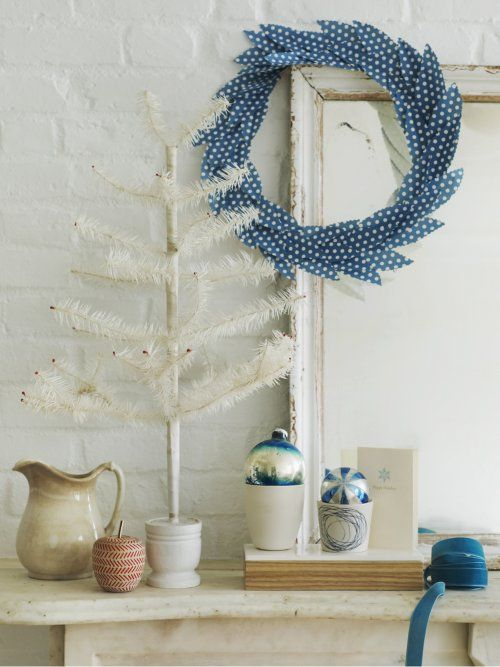 Sweet Paul.: Holiday, Paper Wreaths, Craft, Blue, Feather Wreath, Christmas, Wreath Idea, Sweet Paul