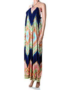 Dlhé modro-oranžové maxi šaty Butterfly Dlhé ľahké padavé letné maxi-šaty na zaväzovanie okolo krku modrej a oranžovej farby. Šaty sú okolo celého hrudníka pružné vďaka žabkovanej technike šitia. Ideálne na pláž a prechádzky v horúcich letných dňoch.  http://www.yolo.sk/saty/dlhe-modro-oranzove-maxi-saty-butterfly