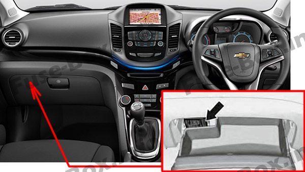 Chevrolet Orlando J309 2011 2018 Fuse Box Location With