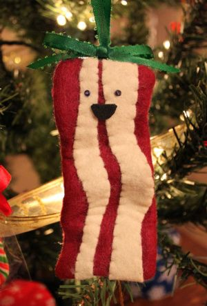 Felt Bacon Ornament
