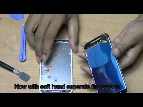 Moto E disassembly and screen change - YouTube
