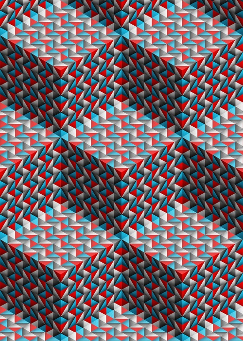 ♥ {I'm always looking for new and different ways to depict '3-D' cubes, etc. from my abstract patterning coloring books! This one is awesome!}