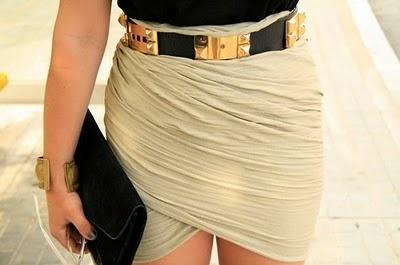draped skirtFashion, Style, Closets, Clothing, Hermes Belts, Beltskirt Combinations, Black Gold, Wraps Skirts, Tulip Skirts
