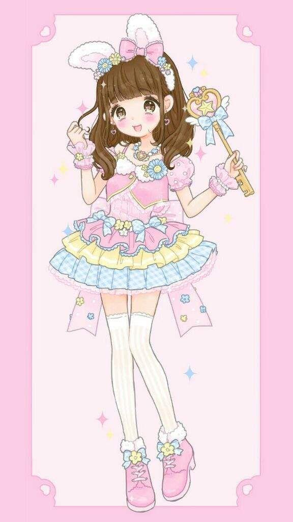 Kawaii anime illustration cute girly k t qu h nh nh cho - Girly girl anime ...