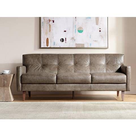 Sectional Sofas Digio Wide Fiji Taupe Italian Leather Sofa