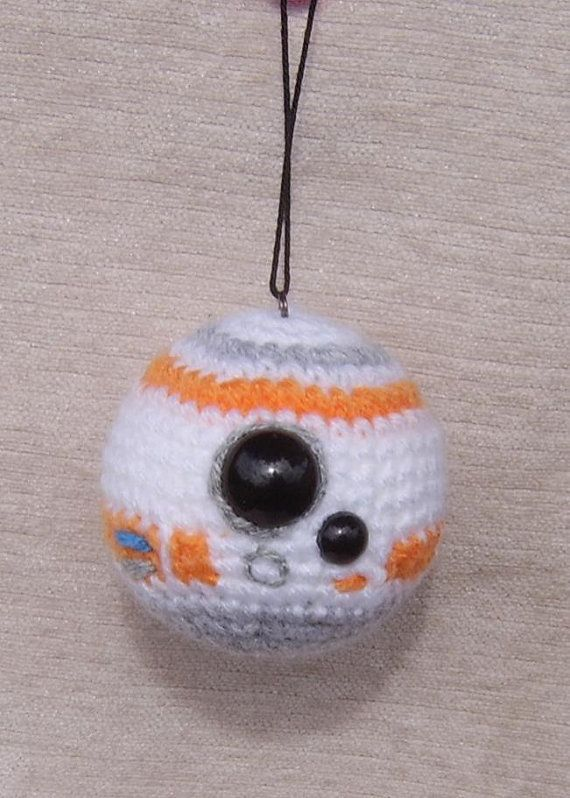 BB8 inspired crochet Baubles for Star Wars fans The Force