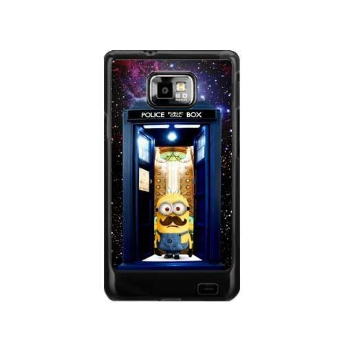 Tardis doctor who with despicable me samsung galaxy s2 i9100 case