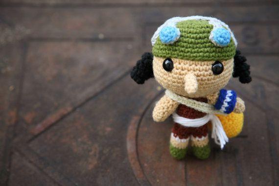 Crochet One Piece : PATTERN Usopp One Piece Amigurumi crochet pattern by BaburuStar, $5.80