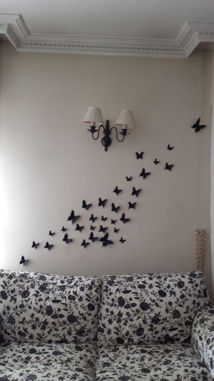 Mariposas de cartulina para dar otro aire a las paredes de - Mariposas para pared ...