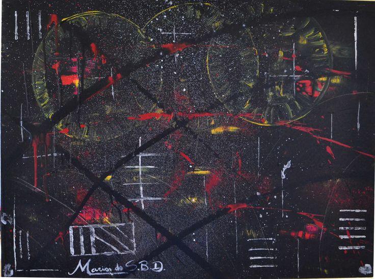 Chromotherapy Modern Abstract Acrylic Painting - TRIPLE CIRCLE (Painting),  3x80x60 cm por Maria do S.B.D    INDICADO PARA AUXILIAR NO TRATAMENTO DA HIPER ATIVIDADE, AUMENTAR AUTO ESTIMA, ESTABILIZAR A PRESSÃO SANGUÍNEA E DIABETE, DIMINUIR A FOME E AS DORES MUSCULARES.  TRIPLO CIRCULO PAINEL 60X80 ACRÍLICA SOBRE TELA ABSTRATO CONTEMPORÂNEO  ESPATULADO DUAS DEMAÕS DE VERNIZ TOTAL ANO 2014 CORES E FORMAS – CROMOTERAPIA AUTORA: MARIA DO S. B. D FLORIANÓPOLIS – S. CATARINA – BRAZIL