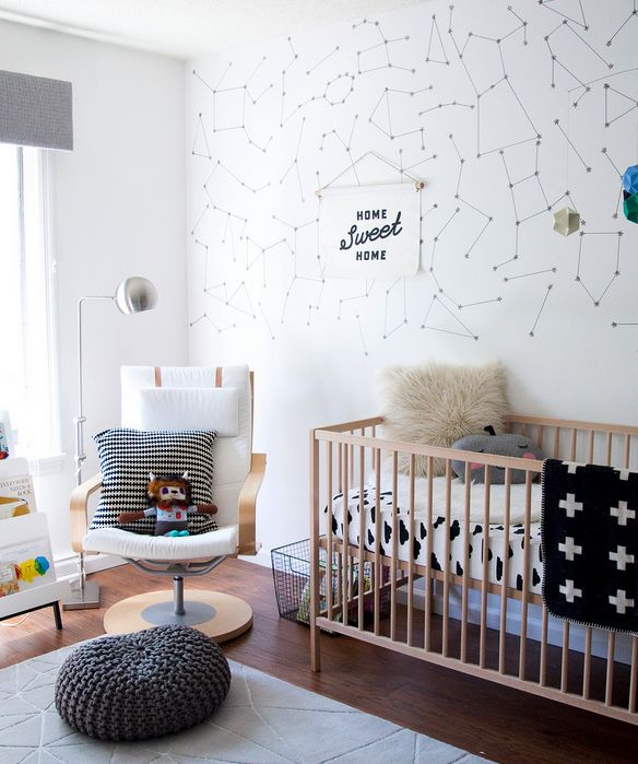 This space-themed nursery is gender-neutral and oh so stylish.