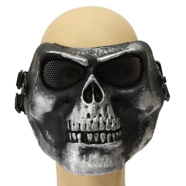 Death Skull Bone Airsoft Full Face Protective Safety Mask
