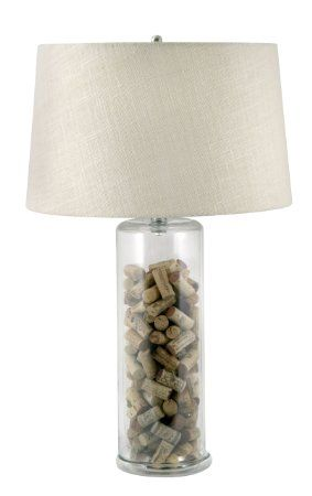 Lamp Works Phil Up Clear Glass Table Lamp