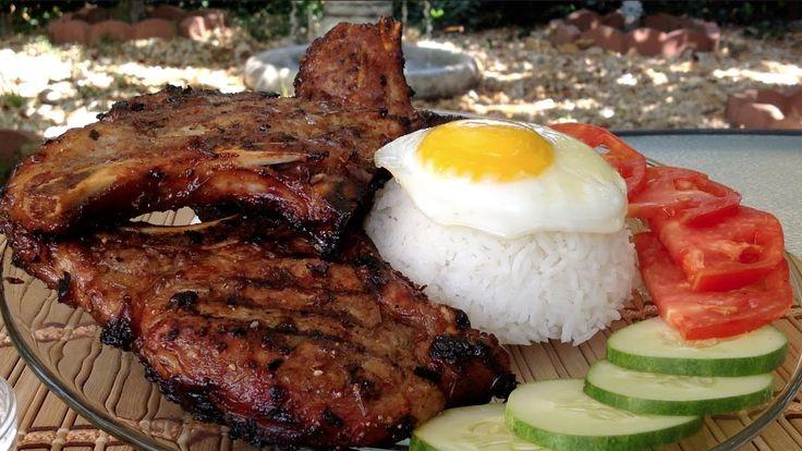 How To Grill Lemongrass Pork Chops-Vietnamese Food Recipes