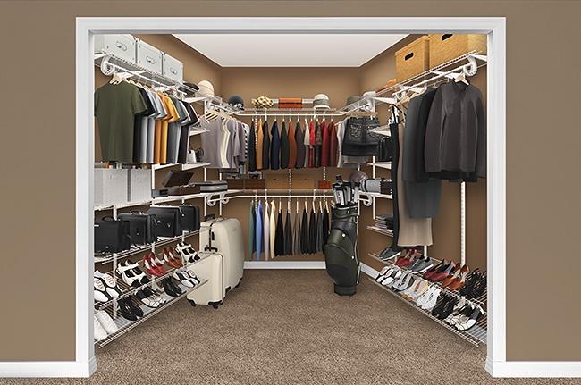 Closet organization wire shelves closet pinterest for Small storage hassocks
