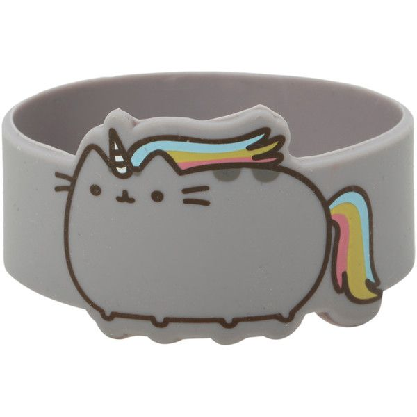 Pusheen Unicorn Die-Cut Rubber Bracelet | Hot Topic ($7.88) ❤ liked on Polyvore featuring jewelry, bracelets, accessories, rubber bangles, cat bracelet, unicorn jewelry, cat jewelry and rubber jewelry