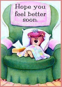 Hope you feel better soon.