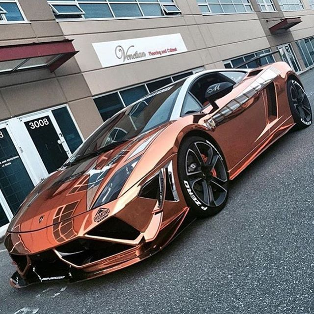 Rose Gold Gallardo SuperTrofeo  Follow the number one lambo page @lambowars @lambowars @lambowars  pic @mmdesign_car_wrap #CarsWithoutLimits #Lamborghini #Gallardo