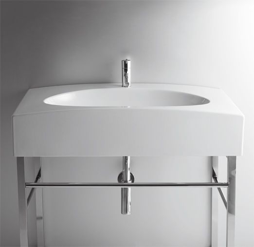 DU11 | Duemilasette Ceramica Simas Console 90 with single tap hole to be  mounted on stand