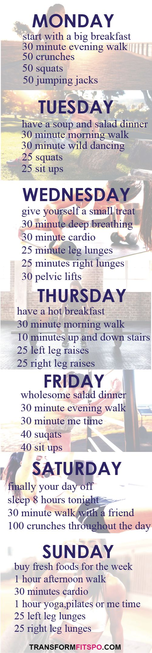 15 best ideas about Weekly Workout Plans – Weekly Exercise Plans