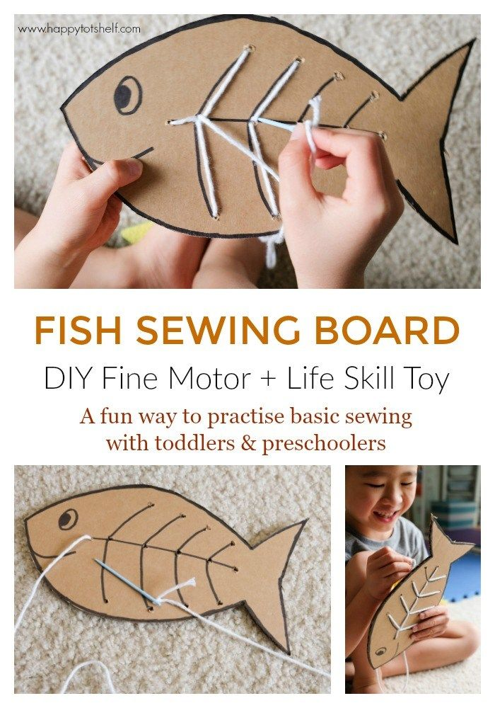 DIY learning toy to learn basic sewing for kids.