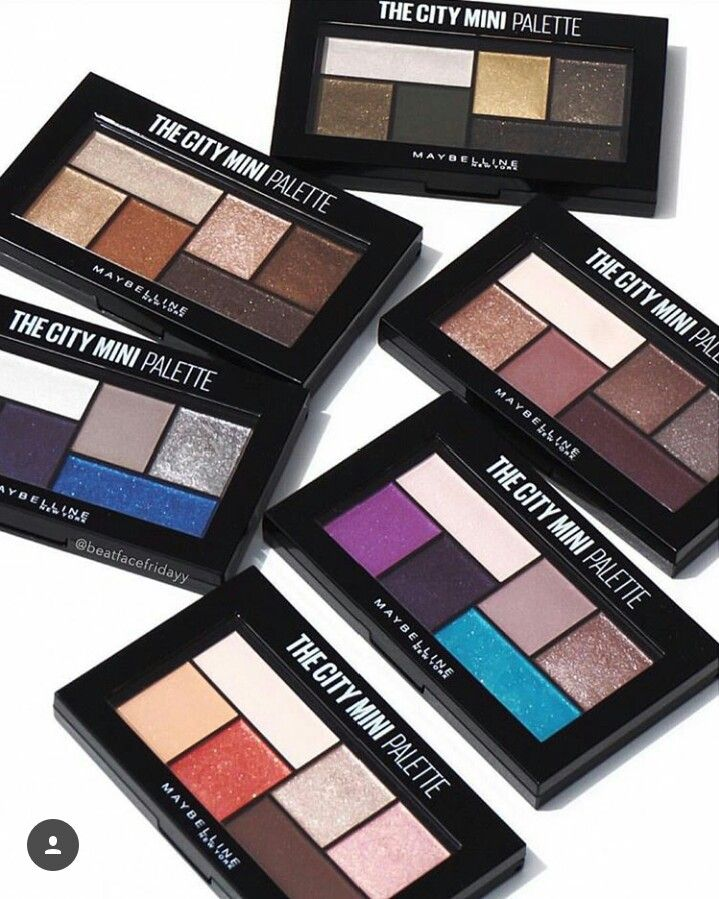 "New ""The City Mini"" Eyeshadow palettes from Maybelline"