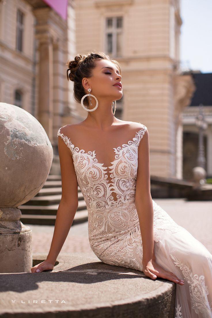 Liretta <b>Wedding Dress</b> - Lungo | Liretta Wedding <b>Blue</b> Mountain