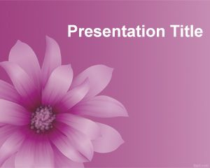 This Purple Flower PowerPoint template is a nice abstract background for Power Point presentations with a purple flower image